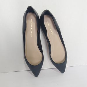 NWOT Loeffler Randall black leather ballet flats